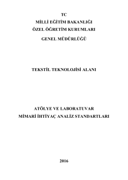 tekstil - Özel Öğretim Kurumları Genel Müdürlüğü