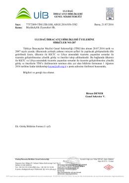 Sirküler No:287_ Büyükelçilik Ziyaretleri Hk.