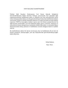 yurt dışı çıkış taahhütnamesi - TC Türkiye Halk Oyunları Federasyonu