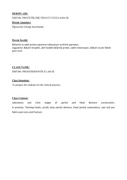 dhf306- protetik diş tedavi uygulama 3