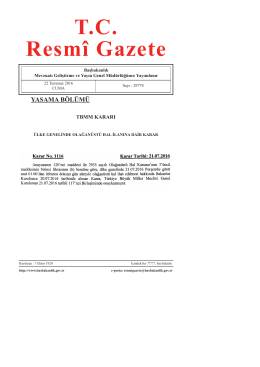 tbmm kararı - Resmi Gazete