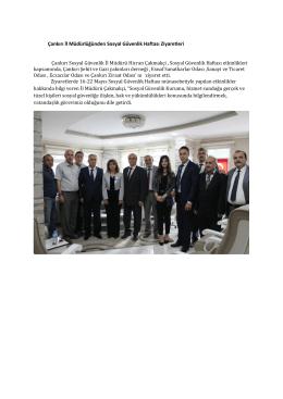 Çankırı İl Müdürlüğünden Sosyal Güvenlik Haftası Ziyaretleri