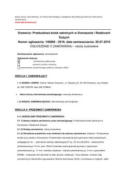 Drzewica: Przebudowa boisk szkolnych w Domasznie i Radzicach