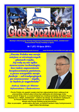 """tutaj - NSZZ """"Solidarność"""" Pracowników Poczty Polskiej w Opolu"""
