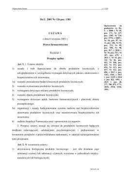 Dz.U. 2001 nr 126 poz. 1381 - Internetowy System Aktów Prawnych