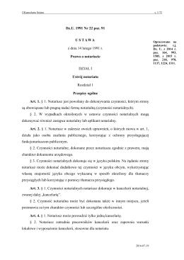 Prawo o notariacie - Internetowy System Aktów Prawnych