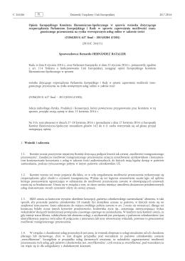 Opinia Europejskiego Komitetu Ekonomiczno-Społecznego