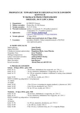 propozycje 30-31.07.2016 Orzesze