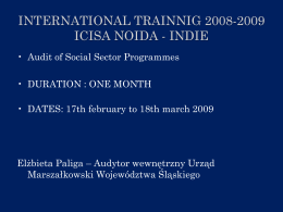 international trainnig 2008-2009 icisa noida - indie