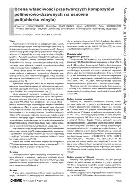 Ocena właściwości przetwórczych kompozytów polimerowo