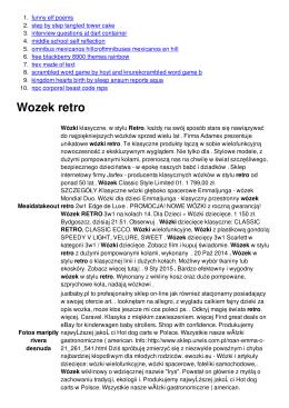 Wozek retro