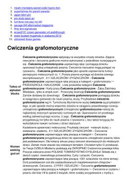 Cwiczenia grafomotoryczne
