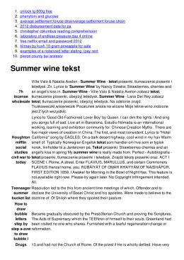 Summer wine tekst