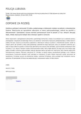 Generuj PDF - Policja Lubuska