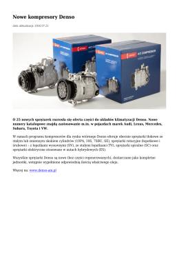 Nowe kompresory Denso