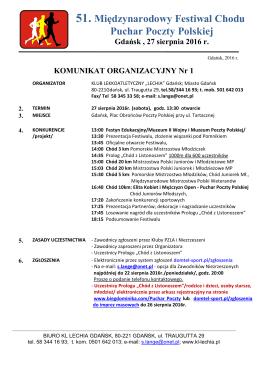 51. Międzynarodowy Festiwal Chodu Puchar Poczty Polskiej