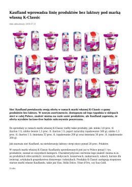 Kaufland wprowadza linię produktów bez laktozy pod marką własną