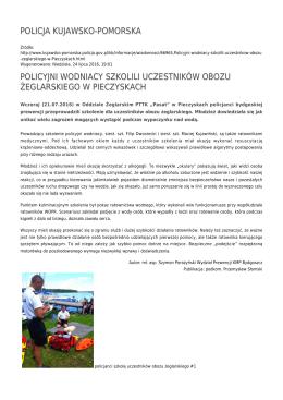 policja kujawsko-pomorska policyjni wodniacy szkolili uczestników