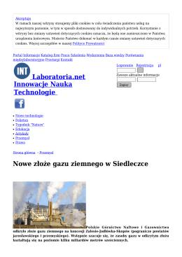 Nowe złoże gazu ziemnego w Siedleczce - Przemysł