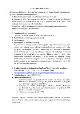 Załączniki do zarządzenia nr 10 - BIP Ministerstwo Rolnictwa i