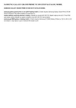 samsung galaxy grand prime ve sm g531f katalog mobil
