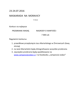 23-24.07.2016 MASKARADA NA MORAVICY