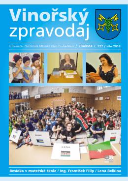 Vinořský zpravodaj č. 127 / léto 2016 - Praha