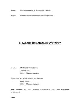 E.Zásady organizace výstavby - E