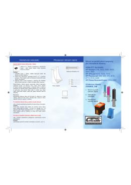 Návod na použití plnicí soupravy pro inkoustové