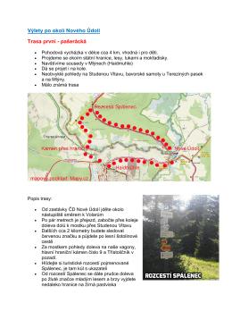 Výlety po okolí Nového Údolí Trasa první - pašerácká