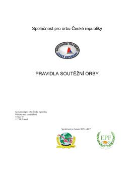 pravidla soutěžní orby - Společnost pro orbu ČR, zs