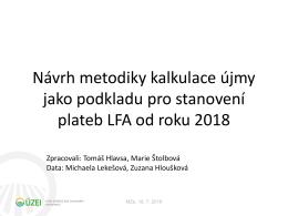 Výpočet újmy LFA pro redefinici od r. 2018