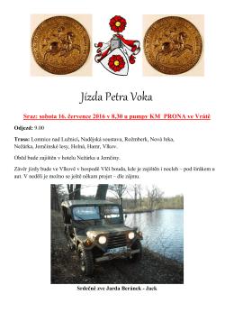 Jízda Petra Voka
