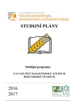 studijní plány - Česká zemědělská univerzita v Praze