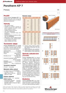 Porotherm KP 7
