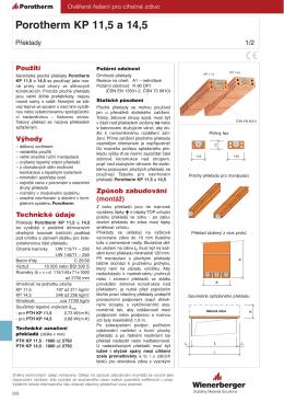 Porotherm KP 11,5 a 14,5