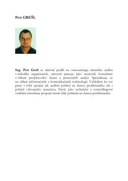 Petr GREŠL Ing. Petr Grešl