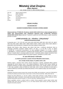 Oznámení o zahájení stavebního řízení a pozvání k