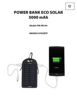 POWER BANK ECO SOLAR 5000 mAh