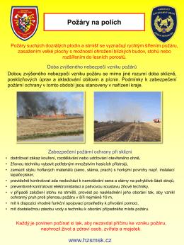 Požáry na polích