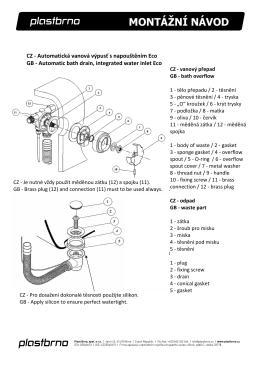 Montážní návod automatická vanová výpust ECO s