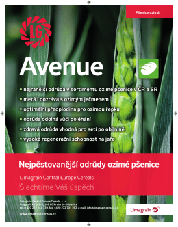 Avenue - Limagrain Central Europe Cereals, sro