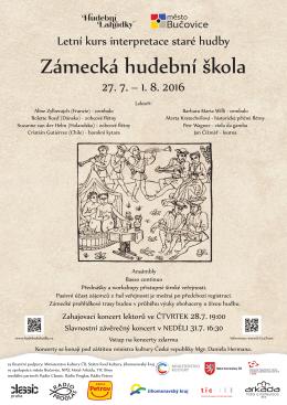 Letní kurs interpretace staré hudby 27. 7. – 1. 8. 2016