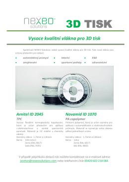 3D TISK - EU POLYMER Ltd.