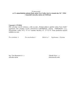 12. rm 18.7.2016 usnesení