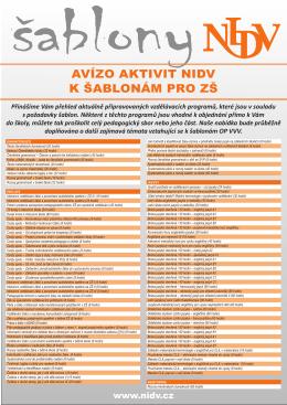 Vzdělávací programy pro základní školy k šablonám OP VVV
