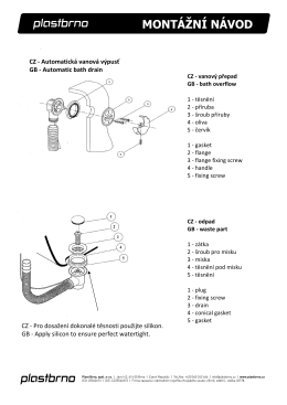Montážní návod automatická vanová výpust bez