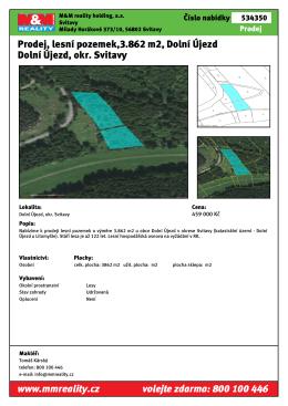 Prodej, lesní pozemek,3.862 m2, Dolní Újezd Dolní Újezd, okr