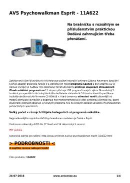 AVS Psychowalkman Esprit - 11A622 - Přečtěte si