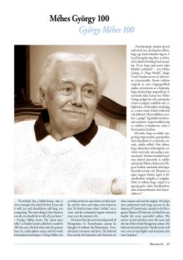 Méhes György 100 - Diplomata Magazin